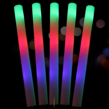 2 Piece/Lot Light Up Premium LED Foam Glow Stick High Quality Flashing Colorful Skinner Rave Stage Light For Party Decoration(China)