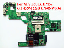 Excellent quality Laptop Motherboard For Dell XPS L501X HM57 GT 435M 2GB CN-0NWF36 0NWF36 Mainboard DAGM6BMB8F0 Tested ok