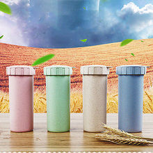 Hot Selling Fashionable Portable Cups of Green Wheat Straw Drinking Tater Mugs