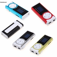 Promotion!! Shiny Mini USB Clip LCD Screen MP3 Music Player Support 16GB Micro SD Music MP3 Player Mini USB (Only Mp3+USB)(China)