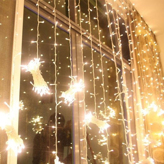 6 3m 600led christmas led fairy string christmas lights decoration party wedding icicle curtain lights