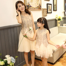 2017 family look dress matching mother daughter dresses clothes mom and daughter dress princess wedding dress mommy and me