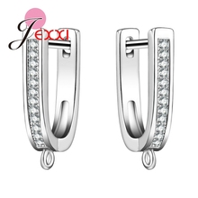 JEXXI Earring DIY Connector Charms Finding Earring Making Craft Supplies Accessories Jewelry Material With AAA+ CZ Diamond