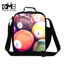 Best 3D printed lunch bag for boys,thermal lunch cooler bag for children school,billiards ball work lunch container for men work