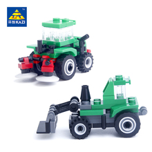 KAZI City Engineering Truck Grain Pushing Car Bulldozer Model Building Block Bricks Brinquedos Intelligent Toy 6+Age 89001 89002