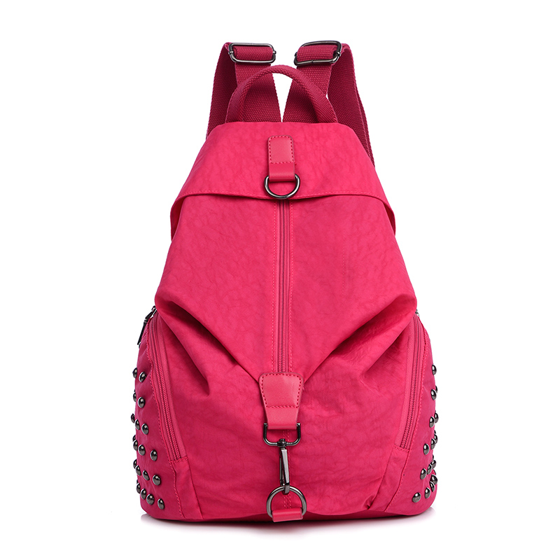 KVKY 7 Color Youth Girl Campus Style Rivet School Bag Rucksack Travel Teens Waterproof Oxford Cat Face Shape For Women Backpack<br><br>Aliexpress