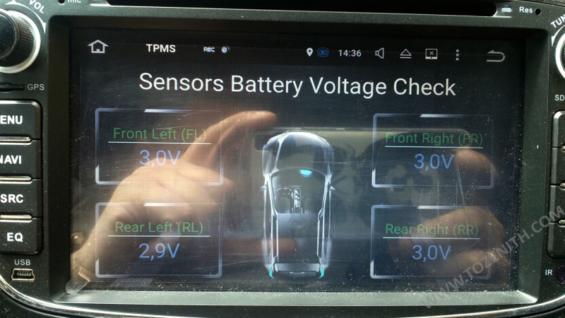 tire alarm pressure monitor sensor