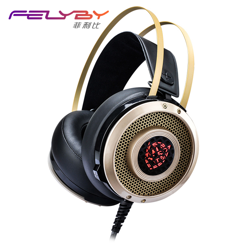 NEW Professional Games Music Headphone with Microphone Noise reduction headset Glowin Headphones Stereo headset for PC Games<br>