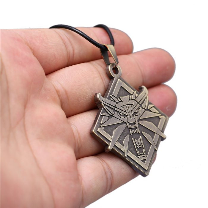 Cool Witcher Necklace in hand