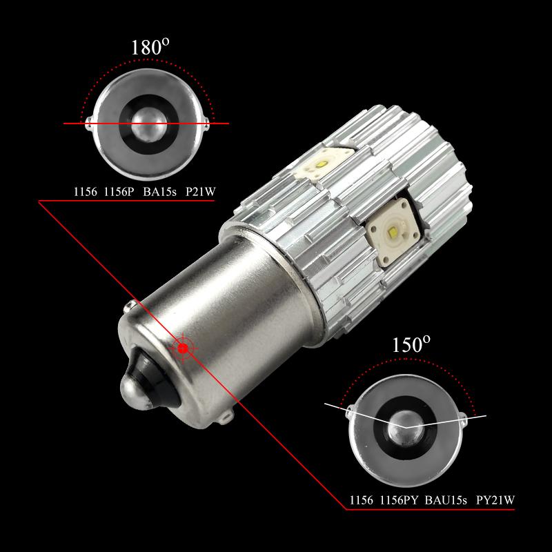 CNSUNNYLIGHT 2pcs 1156 LED BA15S P21W BAU15S PY21W S25 5Osram Chips 6000K White DRL Car Tail Fog Bulbs Brake Light Reverse Lamp (7)