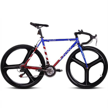 Double V Brake road Bike fixed gear Bike Frame 52cm Frame 24 Speed Frame 46cm frame Road Bike Magnesium Alloy wheel(China)