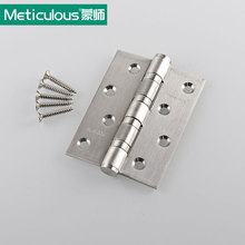2Pcs Meticulous 4Inch 304 Stainless Steel Butt Hinge Brushed Flat Open Door Hinge 3mm Thickness Cabinet Kitchen Folding Hinge(China)