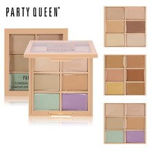Party Queen 6Color Correcting Concealer Palette Contouring Highlighter Bronzer Makeup Concealing Blemish Pores Cream Contour Kit(China)