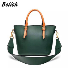Bolish PU Leather Women Handbag Two Pieces Winter All-match Fashion Bags 2 Belt Female Shoulder Bag for Women Messenger Bag(China)