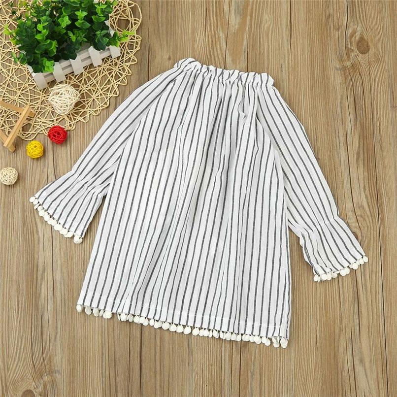 Christmas Clothes Girl Clothes Girls Dress Toddler Baby Kids Girls Santa Printed Striped Long Sleeve Princess Dress AU29#F (3)