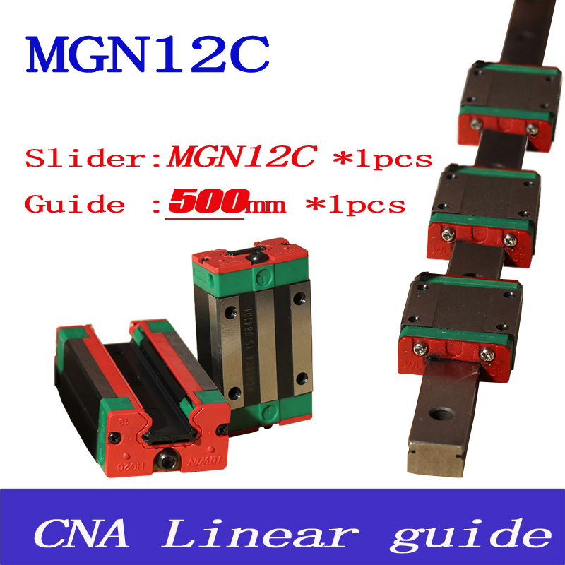 MR12 12mm linear rail guide MGN12 length 500mm with mini MGN12C linear carriage miniature linear motion guide way for cnc<br><br>Aliexpress