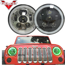 "Recently Launched Car Accessories 7"" Angel Eye Halo Self-Driven/Automatic RGB Headlights For Jeep Wrangler Land Rover Hummer H2"