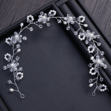New Handmade shinny crystal bridal wedding hair piece floral pearl wedding pieces flower wedding hair jewelry ornaments