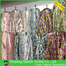 Wholesale cheap 100% polyester floral print satin fabric
