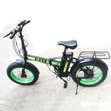 20*40inch folding electric bike Big wheel adult lithium battery Electric Bicycle Beach bike Two-disc brakes electric bicycle(China)