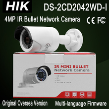 DS-2CD2042WD-I Hik NEW 4MP Bullet Camera IP Camera IP67 H.264/MJPEG/H.264+ IR30m 3-axis adjustment 2688x1520 CCTV network Camera