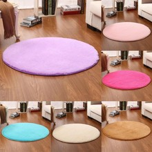 New Fluffy Round Area Rug Shaggy Home Floor Living Room Bedroom Carpet(China)
