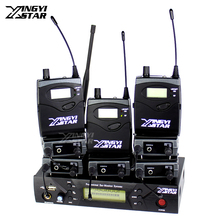Professional Monitoring UHF Wireless In Ear Headphone Stage Monitor System USB 1 Transmitter & 8 Receiver Recording Studio Mixer(China)