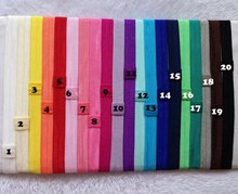 Wholesale 200pcs/lot kids Elastic headbands for kids girls Foe fold over Shimmer Satin hair Accessory Freeshipping