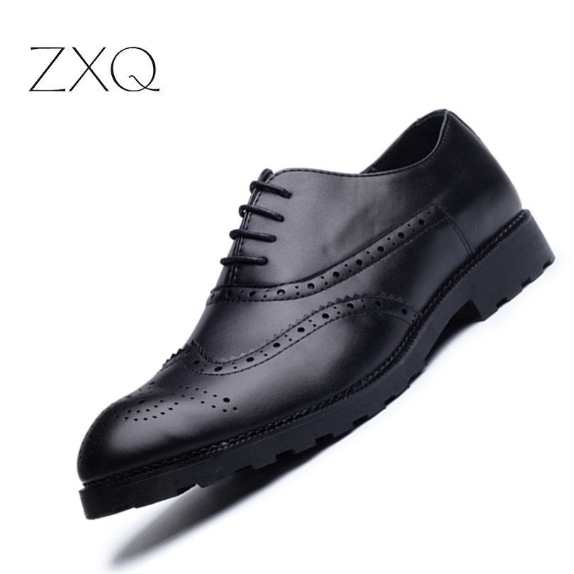 2017 Classic Design PU Leather Men Oxford Shoes Lace Up Black Formal Breathable Men Shoes Men Wedding Dress Shoes <br>