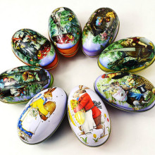 Brand New 8pcs different design Fashion Wedding Supplies Candy Packaging Candy Box Tin Easter Day EggS 11x6.5x7.5cm