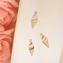 MRHUANG MRHUANG 10pcs/pack ice-cream Enamel Charms Alloy Oil drop Pendant fit for bracelet DIY Fashion Jewelry Accessories