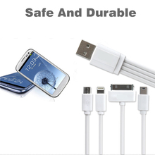 TPF Multiple Connector 4 in 1 USB Charging Cable For Iphone 7 6S 6 5S 4S Ipad mini Multi USB Charger Cable Cord For Android