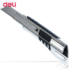 Deli One pc A Lot Steel Can Locked 9mm New Utility Stainless Steel 0.5*18*100mm Silver Colour Handle High Quality Art Knife(China)