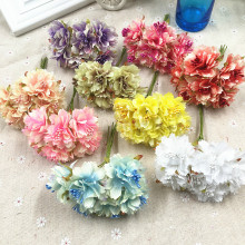 6pcs simulation of a small bouquet of chrysanthemums flowers fresh garden peony flower garland handmade decorative items(China)