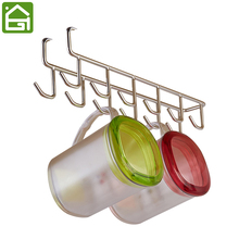 Stainless Steel Cupboard Hanger Kitchen Tool Towel Chest Hook Closet Hanging Cup Drainer Wardrobe Clothing Storage Hooks(China)