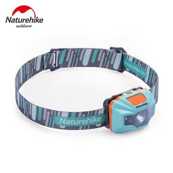 NatureHike-Ajustável 4 Modos À Prova D' Água de Carga USB LEVOU Noite Pesca Caminhadas Camping Ciclismo Farol Iluminação Exterior