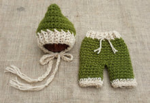 free shipping,Newborn hat,baby Beanies caps,Crochet Newborn Baby Pixie Hat & Pants Set newborn Photography Prop NB-3M 100%cotton