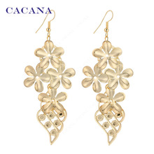 CACANA  Dangle Long Earrings With Five-leaf Grass For Women Fashion Bijouterie Hot Sale No.A41 A42
