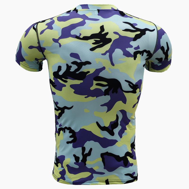 ZYMFOX Hunting Base Layers Quick-drying Hunting Man\`s Short Sleeves mens\` slim t shirt Running T shirts Quick Drying Breathable (2)
