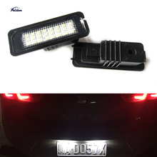 2X24SMD Error free LED Kit for Volkswagen VW GOLF MK4 MK5 SCIROCCO POLO PASSAT BEETLE LED License Number Plate light lamps