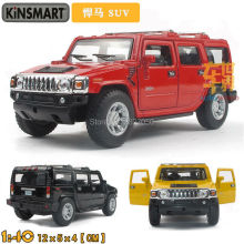 Kinsmart Hummer H2 SUV 1:40 5Inch Diecast Metal Alloy Cars Toy Pull Back Car As Gift For Kids