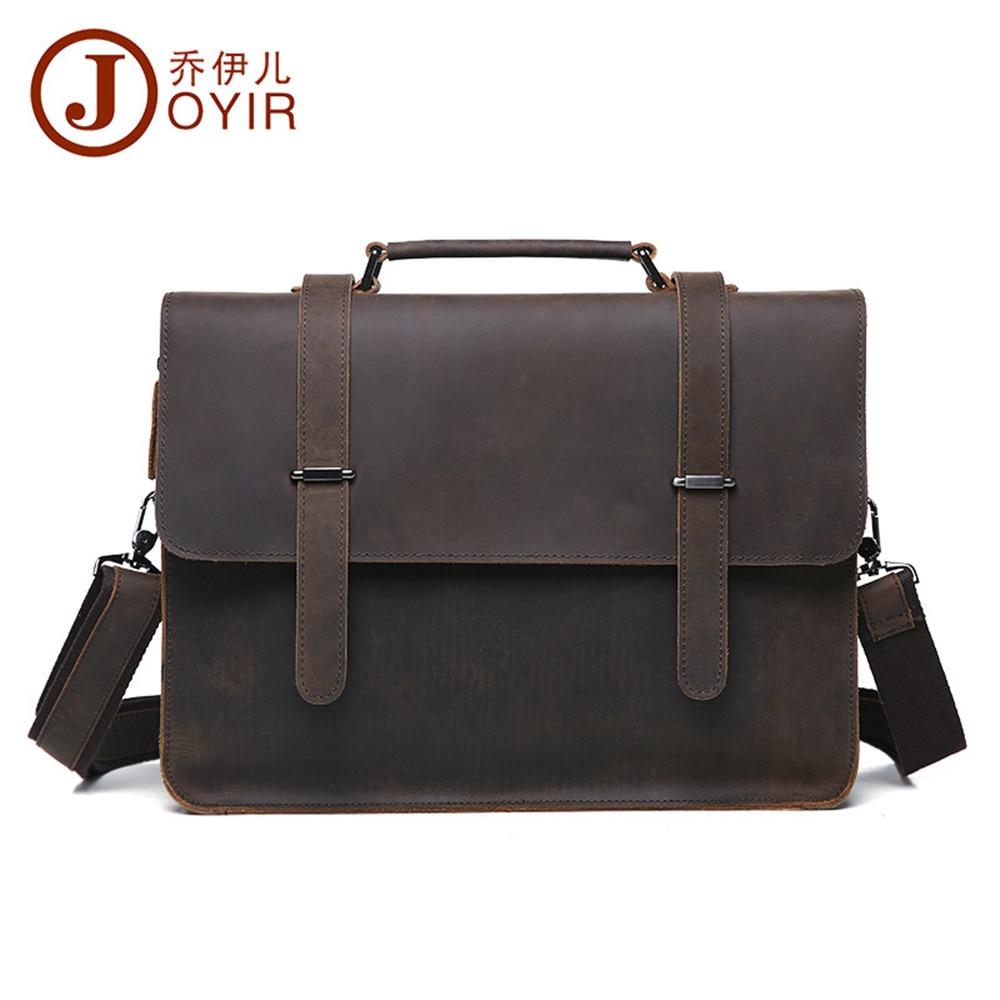 Mens briefcase crazy horse leather mens business to restore ancient ways messenger bag for mens handbags laptop bag      <br><br>Aliexpress