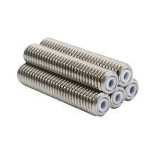 CHANGTA 5pcs/lot For Makerbot MK8 1.75mm Filament Stainless Steel With Teflon PTFE Tube M6*30mm 3D Printer Throat