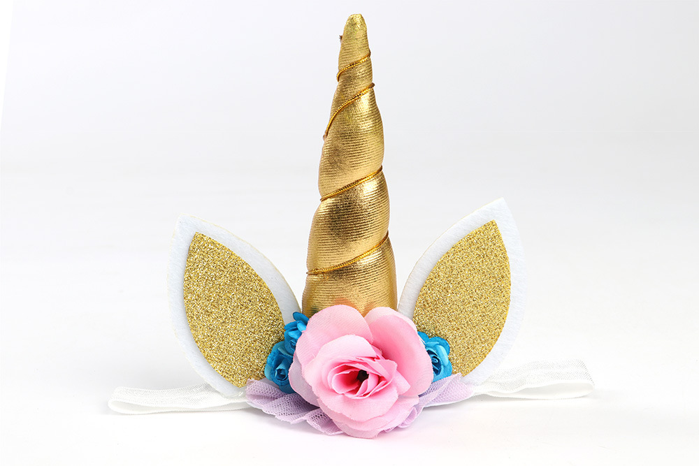Photo Prop Unicorn Flower Crown Headband Party Headband Magical ... 81c9874ebb6
