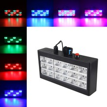 Black 18pcs RGB Led Stage Light Moving Head Led Laser Dance Lights For Party New DJ Light DMX(China)