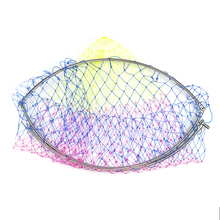 Stainless steel large brailer head  round glue wire mesh big multicolour fishing folding net bag sniggle 50cm Monofilament