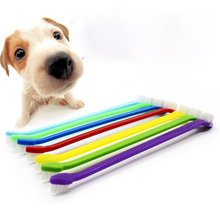 30pcs/lot Pet Toothbrush  Lovely Grooming Dual End  Pet Dog Puppy Cat Small Animals Toothbrush