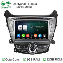 HD 8 inch 1024x600 2GB RAM Octa Core Auto PC Android 6.0 Car DVD GPS For Hyundai Elantra 2014 2015 With 4G WiFi DVR