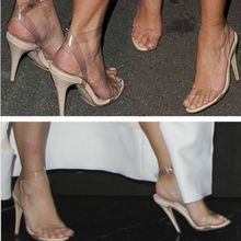 2016 women shoes Celebrity Wearing Strappy High Heels sandals women pumps sexy ladies stiletto party wedding shoes woman(China)