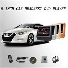 "2016 Car Headrest Monitor digital LCD screen 2*9"" DVD player with USB / SD / IR / FM / SPEAKER / GAME / HDMI  For Nissan Maxima"